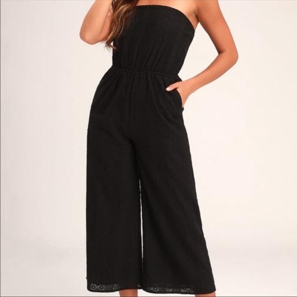 Lulu's Pants - Lulu's Sunlight Special Black Embroidered Jumpsuit